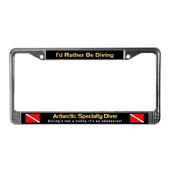 Antarctic Specialty Diver, License Plate Frame