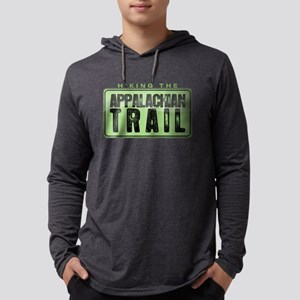 Hiking the Appalachian Trail Mens Hooded Shirt