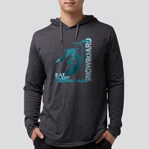 Eat Sleep Snowboard Mens Hooded Shirt