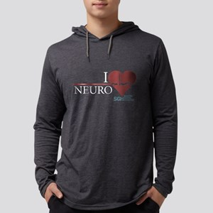 I Heart Neuro - Grey's Anatom Mens Hooded Shirt