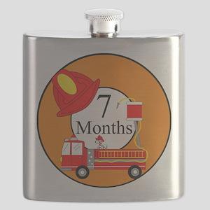 7 Months Fireman Milestone Flask
