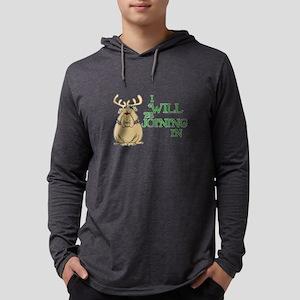 Red-Nosed Bull Dog Mens Hooded Shirt