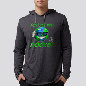 Recycling Rocks! Mens Hooded Shirt