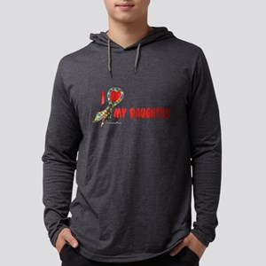 Autism Puzzle I Heart/Support Mens Hooded Shirt