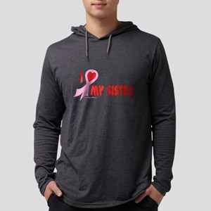 Pink I Heart/Support My Siste Mens Hooded Shirt