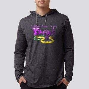 Only Came for the Beads Mens Hooded Shirt