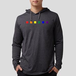 Rainbow Pride Squares Mens Hooded Shirt
