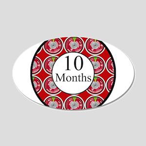 10 Months Fireman Milestone Wall Decal