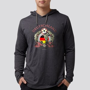 Deutschland Soccer Mens Hooded Shirt