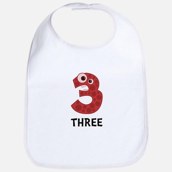 Number Three Bib