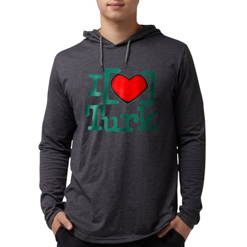 I Heart Turk Mens Hooded Shirt