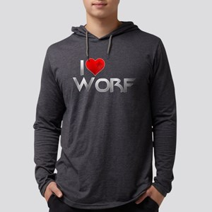 I Heart Worf Mens Hooded Shirt