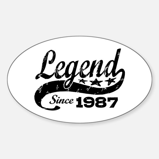 Legend Since 1987 Sticker (Oval)