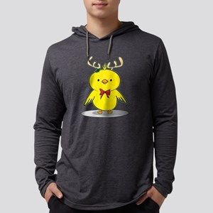 Reindeer Chick Mens Hooded Shirt