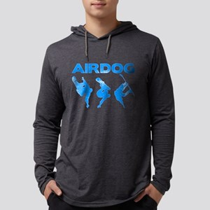 Blue Snowboard Airdog Mens Hooded Shirt