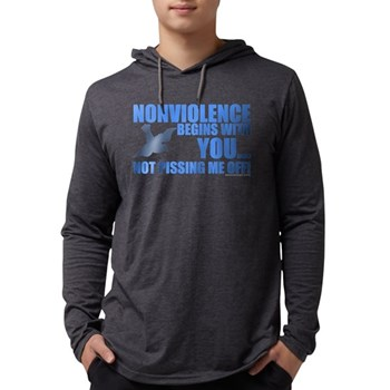 Nonviolence Begins with You.. Mens Hooded Shirt
