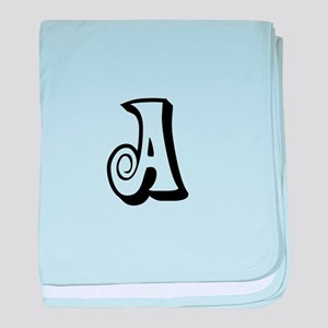 Action Monogram A baby blanket