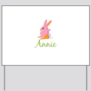 Easter Bunny Annie Yard Sign