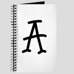 Bookworm Monogram A Journal