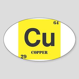 Copper Element Oval Sticker
