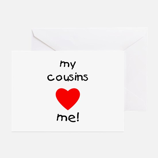 My cousins love me Greeting Cards (Pk of 10)