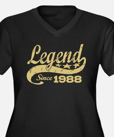 Legend Since 1988 Women's Plus Size V-Neck Dark T-