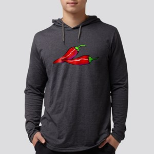 Red Hot Peppers Mens Hooded Shirt