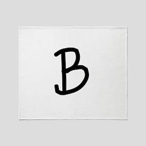 Bookworm Monogram B Throw Blanket