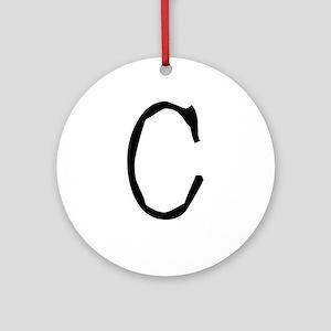 Acoustic Monogram C Ornament (Round)