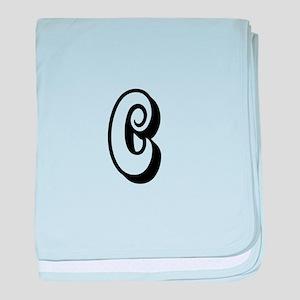 Action Monogram C baby blanket