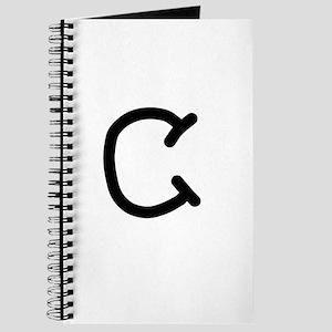 Bookworm Monogram C Journal
