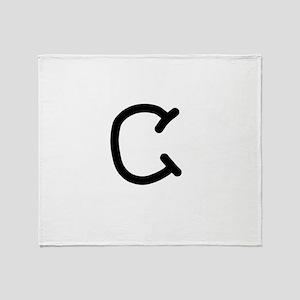Bookworm Monogram C Throw Blanket