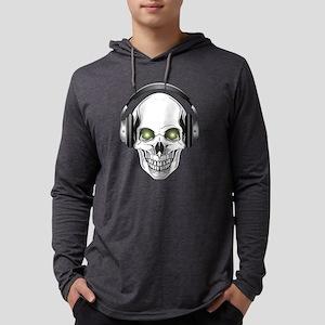 Green Eye DJ Skull Mens Hooded Shirt