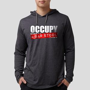 Occupy A Bar Stool Mens Hooded Shirt