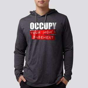 Occupy Your Mom's Basement Mens Hooded Shirt