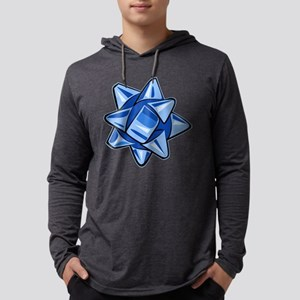 Dark Blue Bow Mens Hooded Shirt