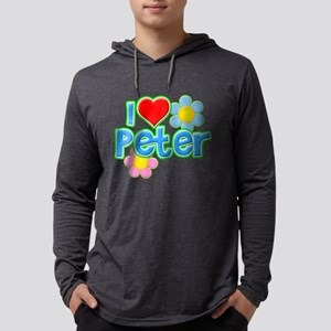 I Heart Peter Mens Hooded Shirt
