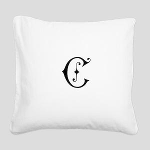 Royal Monogram C Square Canvas Pillow