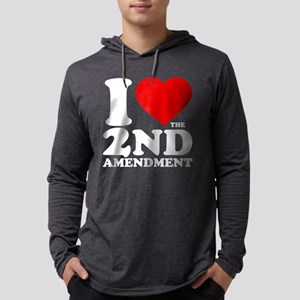 I Heart the 2nd Amendment Mens Hooded Shirt