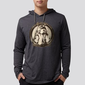 Distressed Wild Boar Stamp Mens Hooded Shirt
