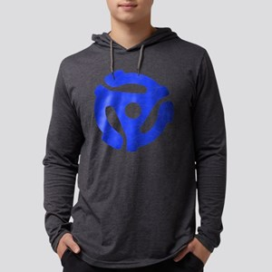 Blue Distressed 45 RPM Adapte Mens Hooded Shirt