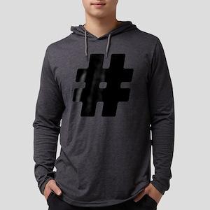 Black #Hashtag Mens Hooded Shirt