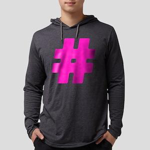 Hot Pink #Hashtag Mens Hooded Shirt