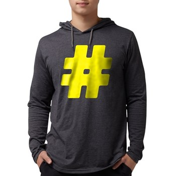 Yellow #Hashtag Mens Hooded Shirt
