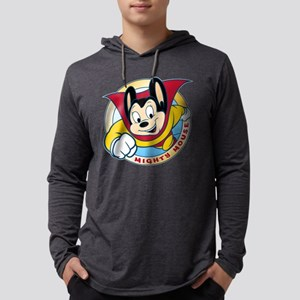Mighty Mouse Mens Hooded Shirt
