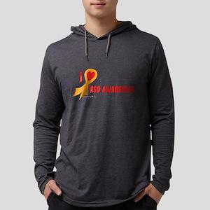 Orange I Heart/Support Rsd Aw Mens Hooded Shirt