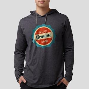 Retro Genuine Quality Since 2 Mens Hooded Shirt