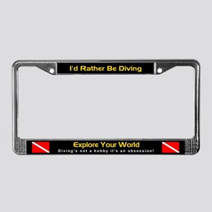 Explore Your World, License Plate Frame