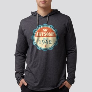 Awesome Since 1942 Mens Hooded Shirt