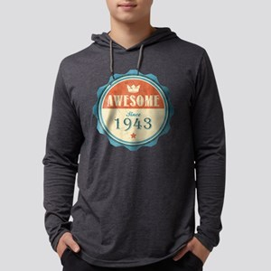 Awesome Since 1943 Mens Hooded Shirt